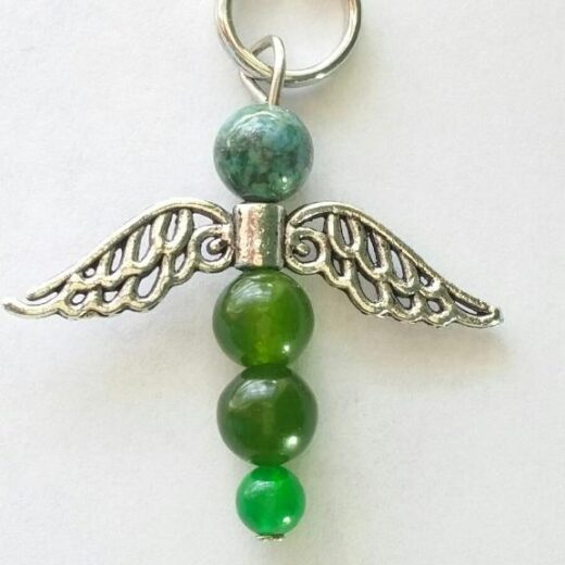 Green Jade Angel Pendant