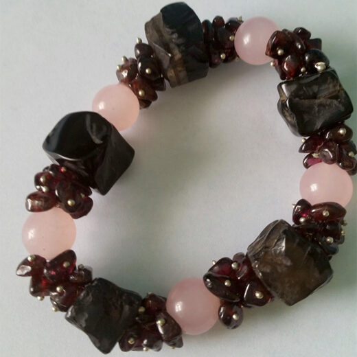 black agate and rose quartz
